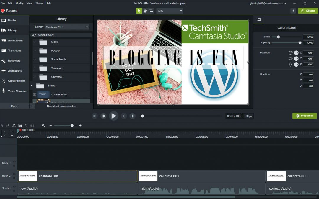 Using Camtasia For Making WordPress Blog Tutorials For Wildlife Pest Control Web Design Clients